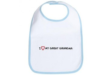 I Love My Great Grandma Hobbies Bib by CafePress