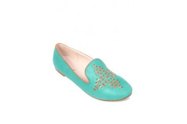 Green Flats Loafers