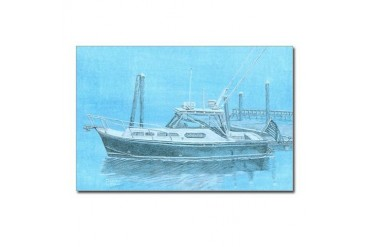 Fortier in Maine Boat Postcards Package of 8 by CafePress