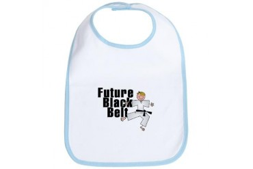 Blonde Future Black Belt Sports Bib by CafePress