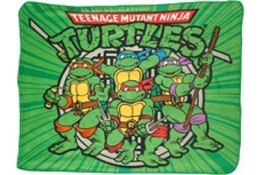 Teenage Mutant Ninja Turtles Group Logo Fleece Throw Blanket