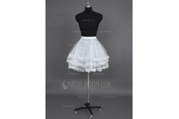 Women/Girls Nylon/Tulle Netting Short-length 3 Tiers Petticoats (037023570)