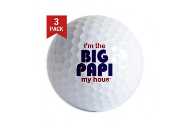 Big Papi Sports Golf Balls by CafePress