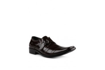 Andretelli Buckle Variation With Glossy Brushed Leather Shoes