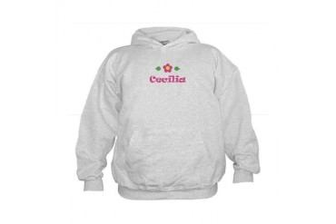 Pink Daisy - Cecilia Cute Kids Hoodie by CafePress