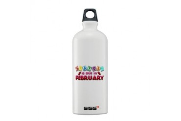 Brayden is Due in February.png Sigg Water Bottle 0 Love Sigg Water Bottle 0.6L by CafePress