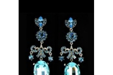 Jim Ball Earrings - Style CE510-Aqua