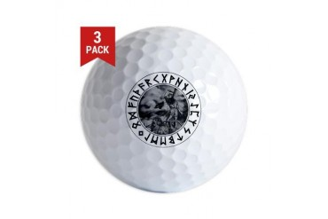 Thor Rune Shield Religion Golf Balls by CafePress