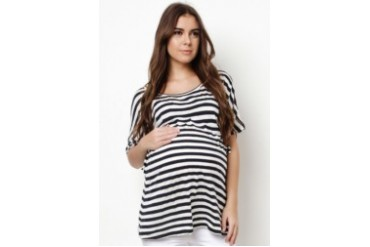 Dolman Sleeves Maternity Blouse