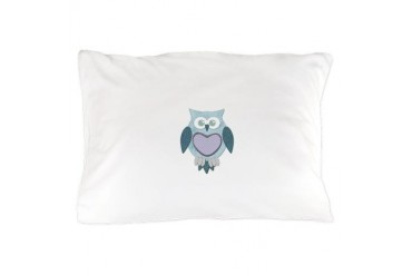 Blue Winter Owl Animal Pillow Case by CafePress