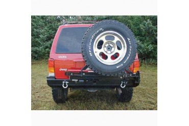 Rock Hard 4x4 Parts Rear Bumper with Tire Carrier includes 2 Inch Receiver and D-ring Mounts RH1013 Tire Carriers