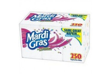 12 Pack Georgia-Pacific Consumer Products 45200 Mardi Gras Napkin 250Ct