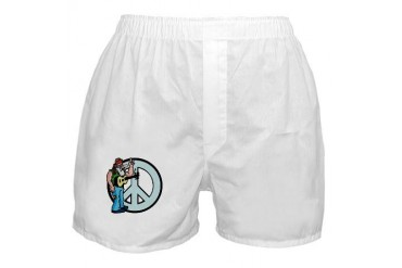 Funny Peace 420 Boxer Shorts by CafePress