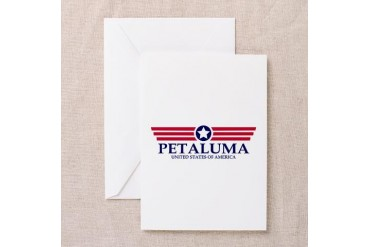 Petaluma Pride California Greeting Card by CafePress