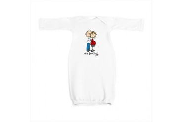 EXPECTBABYSTICK6.png Pregnant Baby Gown by CafePress