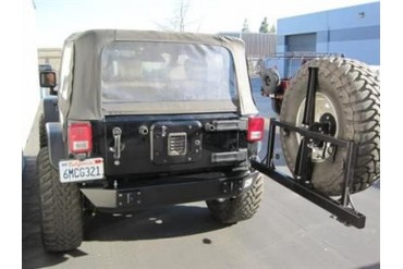PUREJEEP Rear Stubby and Square Frame Tire Carrier PJ2003 Rear Bumpers