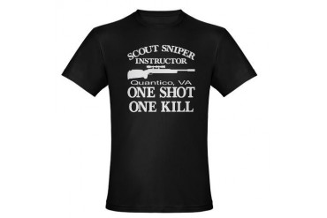 Scout-Sniper Instructor Organic Men's Fitted T-Shi Military Organic Men's Fitted T-Shirt dark by CafePress