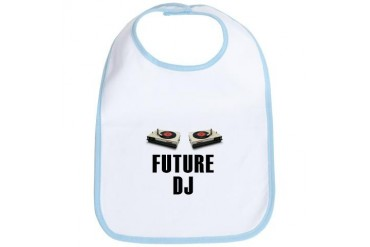 The Future DJ Funny Bib by CafePress