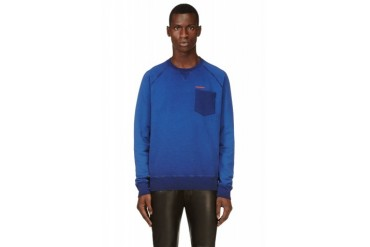Dsquared2 Blue Mottled Sweatshirt