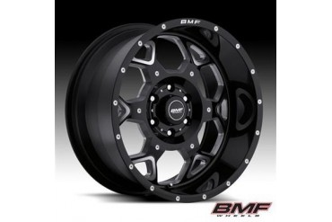 BMF Wheels S.O.T.A., 20x9 with 6 on 5.5 Bolt Pattern - Death Metal Black and Machined 460B-090613900 BMF Wheels