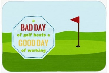 A Bad Day at Golf Mouse Pad, Hot Pad or Trivet