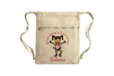 Grandma's Favorite Ballerina Sack Pack Music Cinch Sack by CafePress