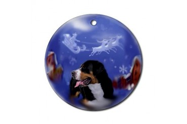 Greater Swiss Mtn Dog Christmas Ornament (Round)