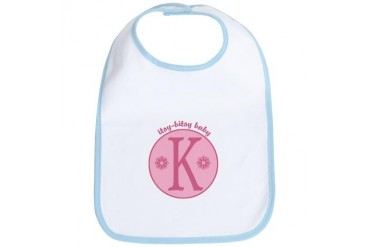 Baby K Baby girl Bib by CafePress