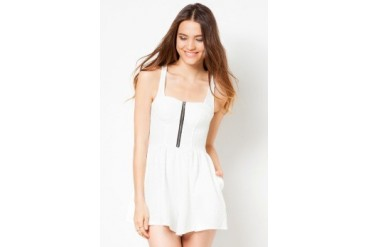 Material Girl Cloud Dancer Textured Bustier Playsuit