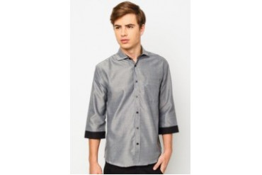 Two Tone 3/4 Sleeve Shirt