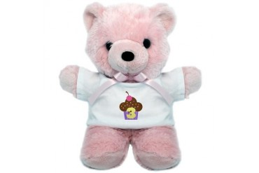 3rd Birthday Cupcake Birthday Teddy Bear by CafePress