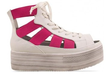 Fessura Double Star in White Fuxia size 7.0