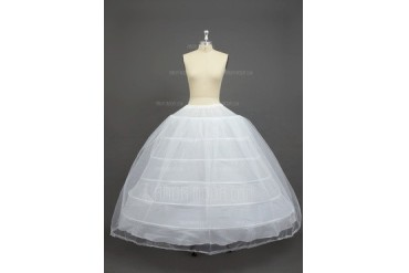 Women Nylon/Tulle Netting Floor-length 2 Tiers Petticoats (037033979)