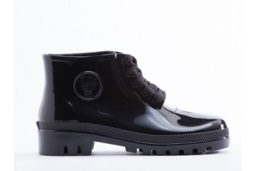 JuJu Miller Jelly Boot in Black size 8.0