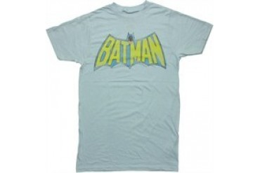 DC Comics Batman TV Logo Lt Blue Jack of All Trades T-Shirt Sheer