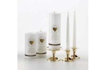 Engravable Gift Collection Second Marriage Candle Set - Style GC311