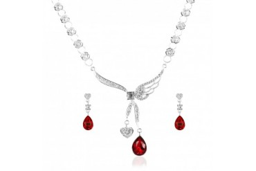 Angel Heart Necklace Set