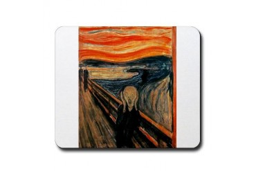The Scream Art Mousepad by CafePress