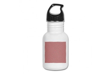 Valentine Houndstooth Holiday Kid's Water Bottle by CafePress