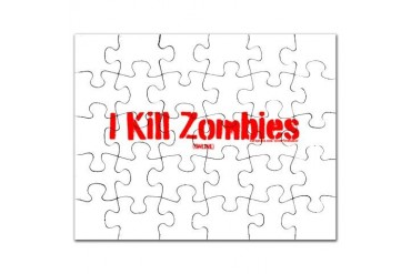 I kill zombies - online Zombie Puzzle by CafePress