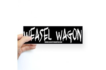 Weasel Wagon Bumper Sticker Humor Sticker Bumper by CafePress