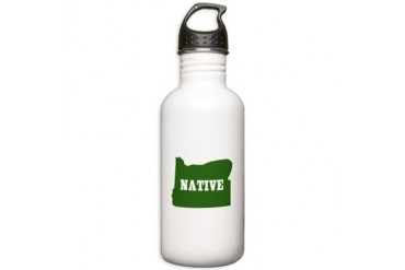 Oregon Native Oregon Stainless Water Bottle 1.0L by CafePress