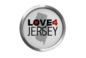 Love 4 Jersey New york Modern Wall Clock by CafePress