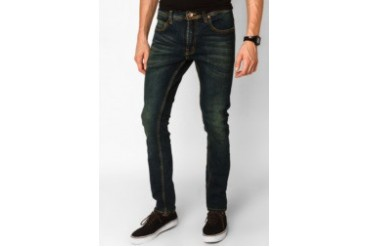 Men's Top Woven Solid Casual Skinny Jeans