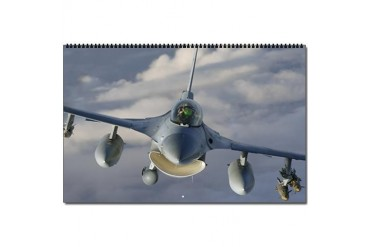 F16 Calendar Military Oversized Wall Calendar by CafePress