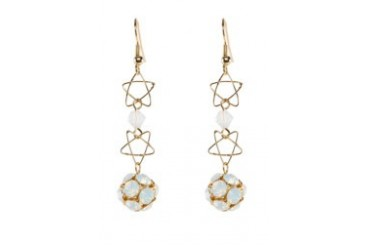 Work Collection Star Crystal Earrings