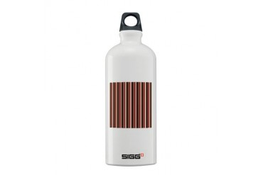 Red Gray Brown Stripes Holiday Sigg Water Bottle 0.6L by CafePress