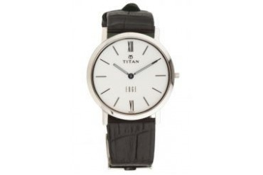 Titan Edge Collection Leather Watch 679SL01R Black