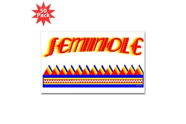 SEMINOLE TRIBE Native american Sticker Rectangle 50 pk by CafePress