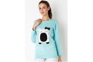 Red Lips Robotic Owl Sweater